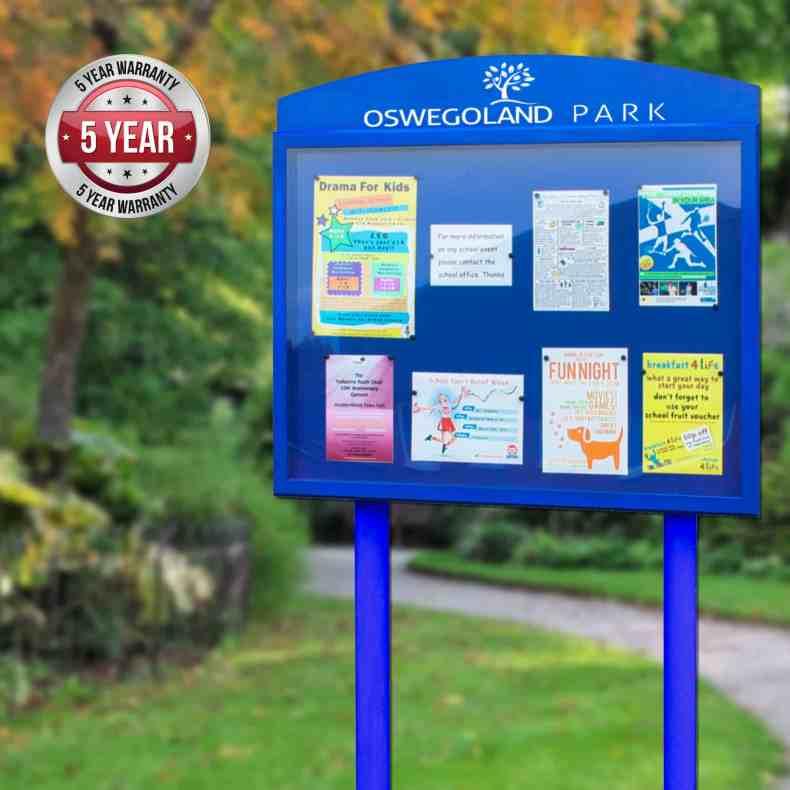 5yg StormGuard Post Mounted Park Noticeboard