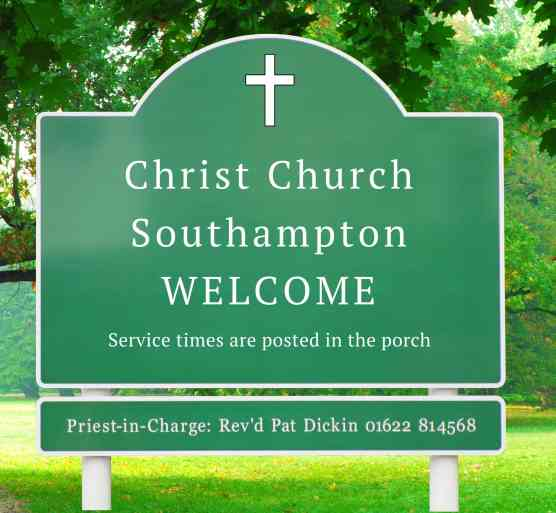 Christ Church Southampton Sign