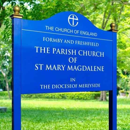 Formby Church Sign B