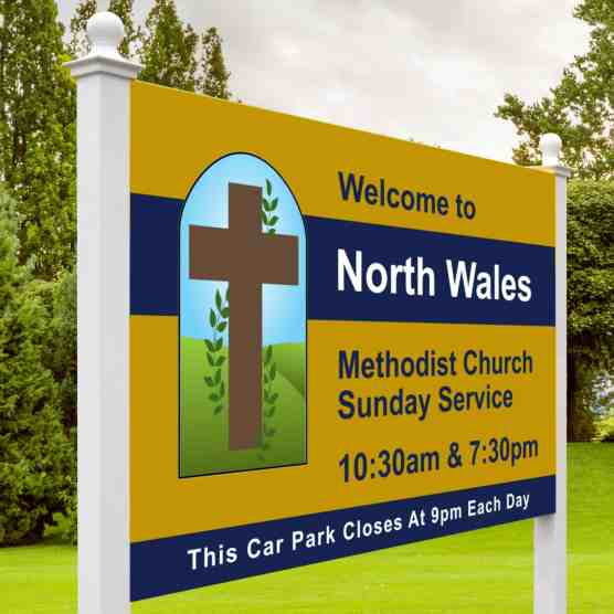 North Wales Church Sign