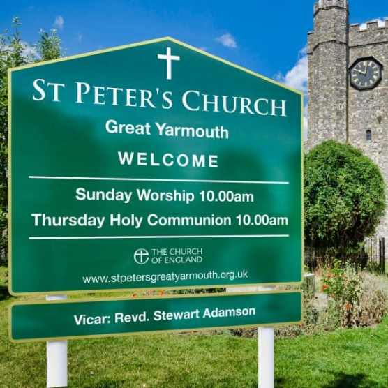 St Peter Church Sign